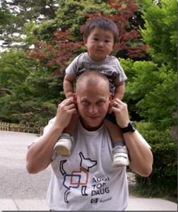 John and his nephew Shido in Kanazawa Japan