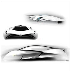 Ferrari World Design Contest 3rd Place Winner - Cavallo Bianco Sketches