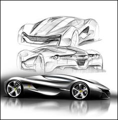 Ferrari World Design Contest 2nd Place Winner - Xezri Sketches