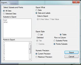 Autodesk Simulation Export Dialog