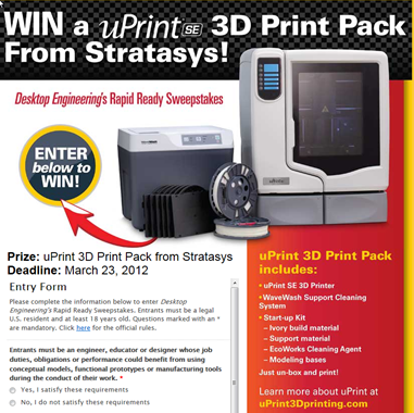 uPrint SE 3D Print Contest