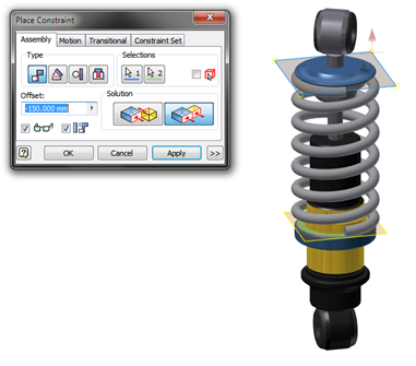 Inventor | Adaptivity and Springs