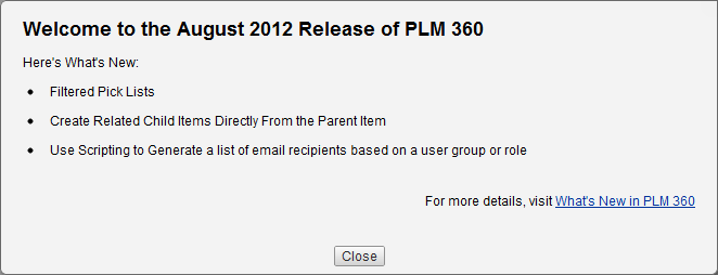 PLM 360 | What's New August 2012