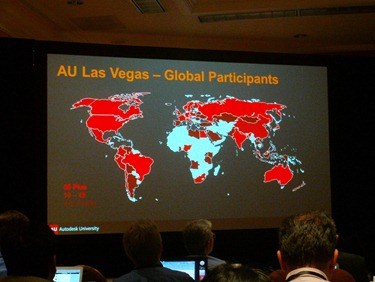 AU 2012 attendees from which country