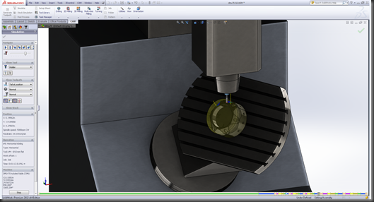 HSMWorks machine simulation in Solidworks