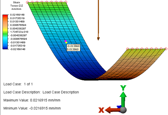 Autodesk Simulation Mechanical Stress Analysis  - Tension on Plate with Gravity