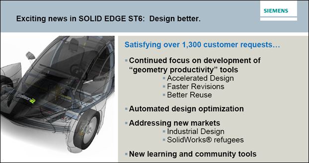 SE ST6 news at Solid Edge University 2013