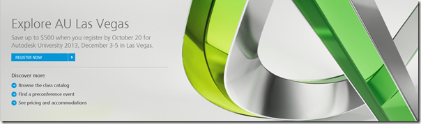 Autodesk University 2013 Registration Opens Today