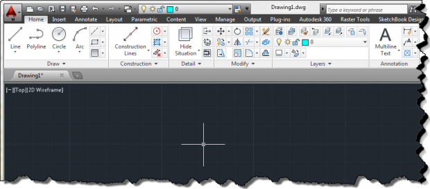 AutoCAD Mechanical 2014 User Interface