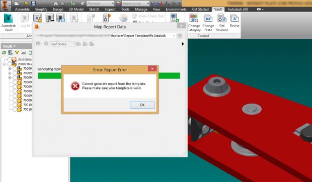 Autodesk Inventor 2014 Vault Professional Report Failed