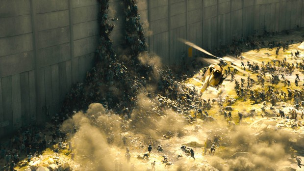 World War Z Zombies running & escalating wall