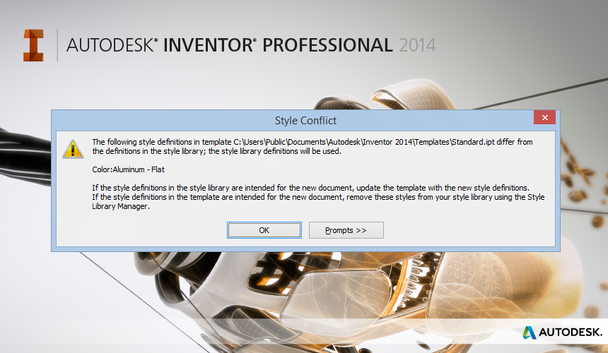 How do I deal with style differences in Autodesk Inventor?