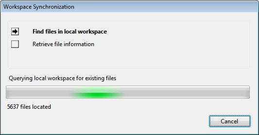 Workspace Sync Scanning Local Working Folder