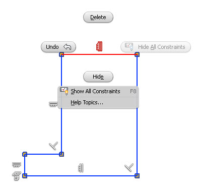 Inventor 2015 Show constraints for selected objects