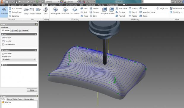 3D Toolpath in InventorHSM
