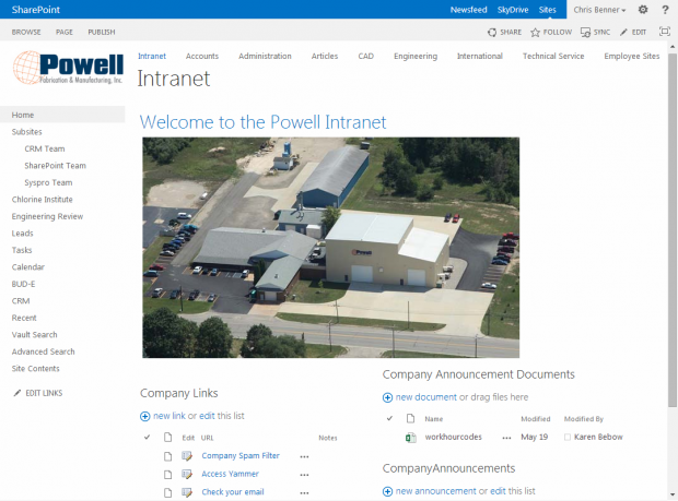 Powell Intranet