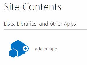 Add SharePoint App