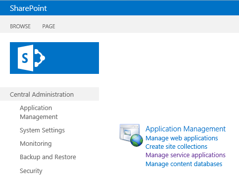 SharePoint Central Administration