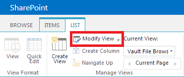 SharePoint Modify View