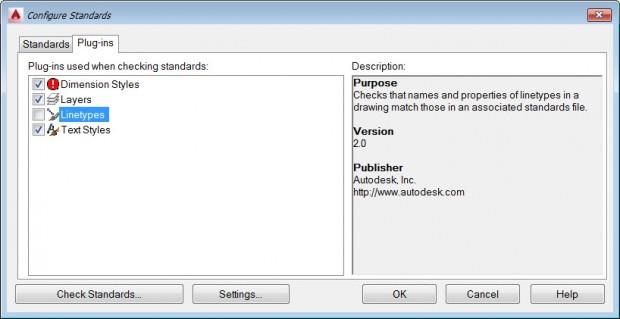 AutoCAD Configuring CAD Standards - Plug Ins