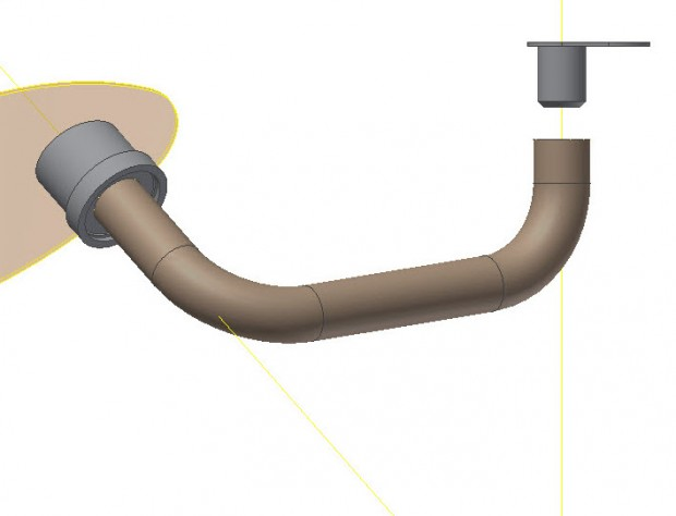 Autodesk Inventor 3D Sketch Tube Surface Transition