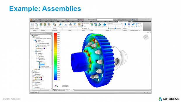 Autodesk Inventor Nastran In-CAD Assemblies Differential Assemblies