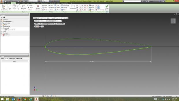 Inventor 2D Equation Curve