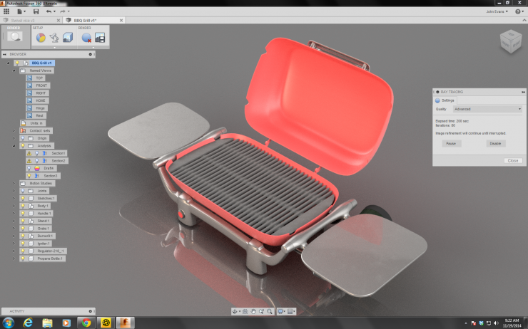 Fusion Grill Rendering