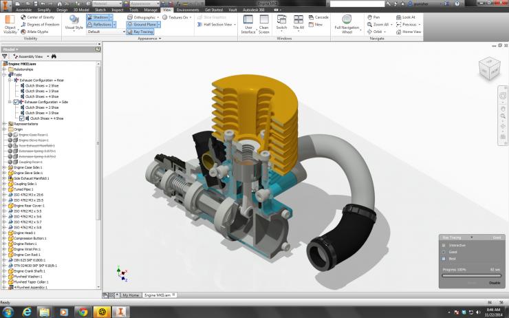 Autodesk Inventor Engine Rendering