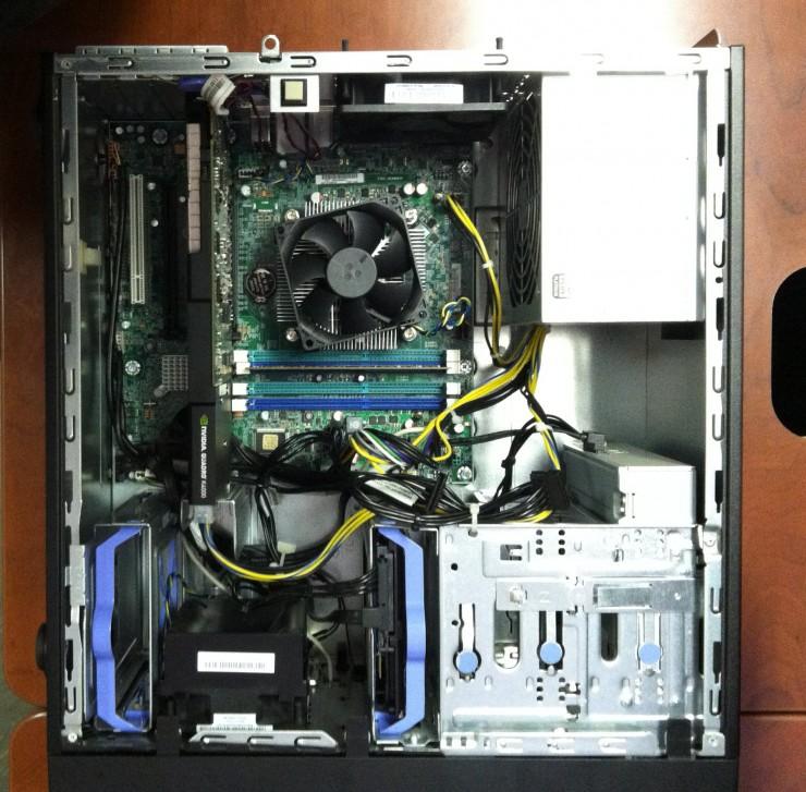 Lenovo ThinkStation P300 Tower Internal view