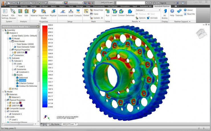 Autodesk Nastran In-CAD UI