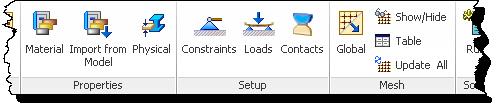 Autodesk Nastran In-CAD Setup Panels