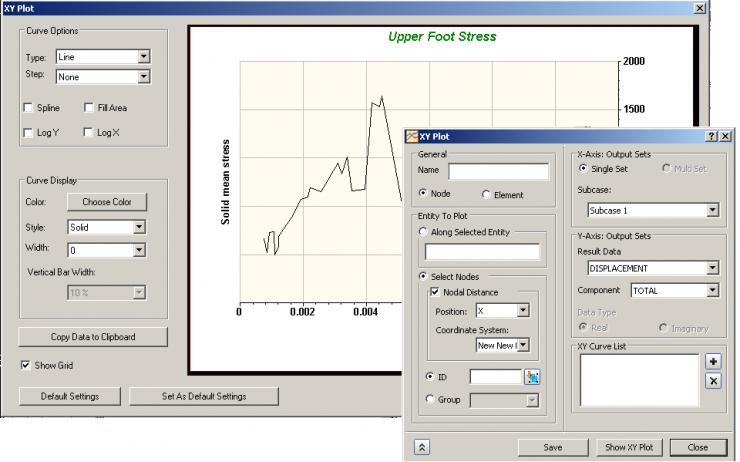 Autodesk Nastran In-CAD Simple XY PLOT
