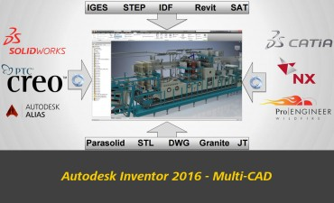 Autodesk Inventor 2016 Now Uses Any CAD format