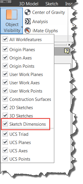 Inventor 2016 Sketching - Object Visibility