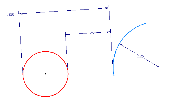 Inventor 2016 Sketching - Tangent Dimensions