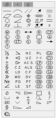 Inventor 2016 new drawing symbols list