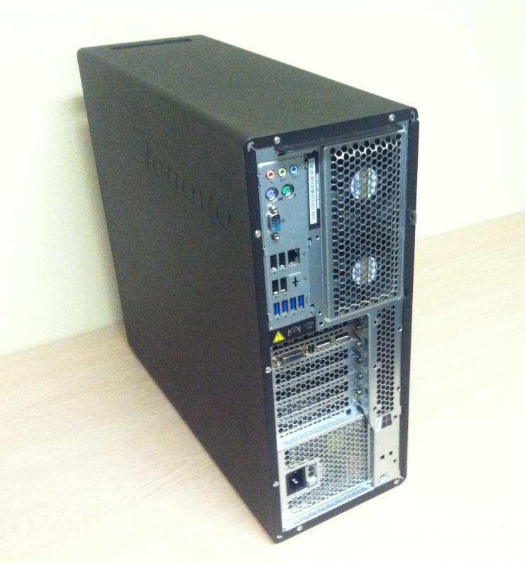 Lenovo ThinkStation P500 Rear Review Image
