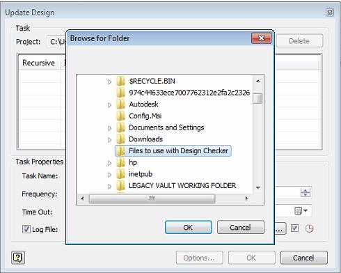 Inventor Design Checker - Task Folder