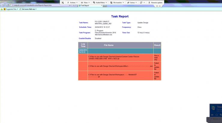 Inventor Design Checker - Task Report