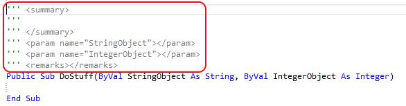 Visual Studio Autocomplete Comments