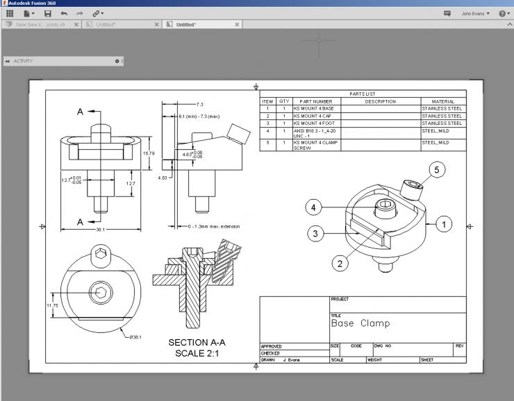 Fusion 360 Drawing Enhancements