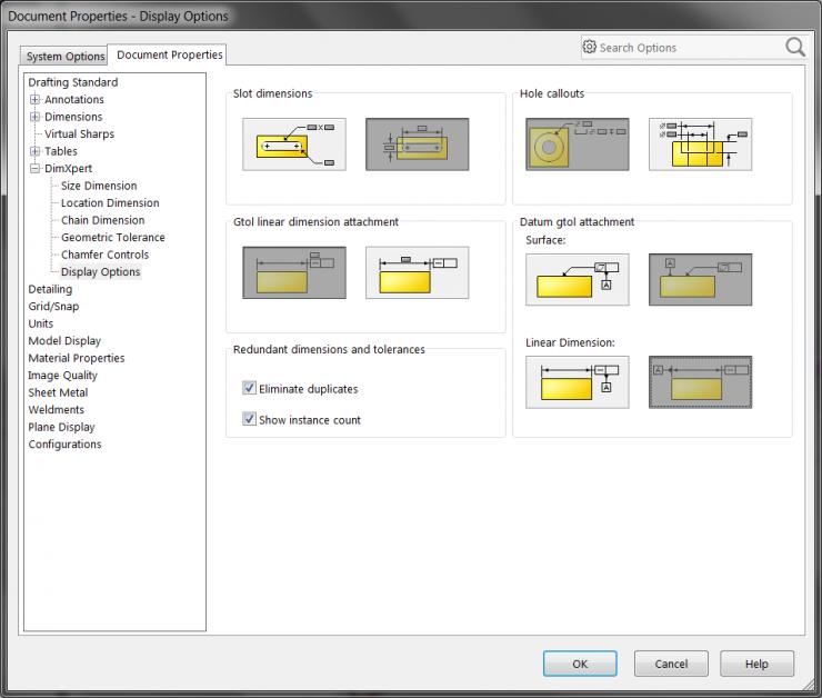 DimXpert - Doc Properties Display