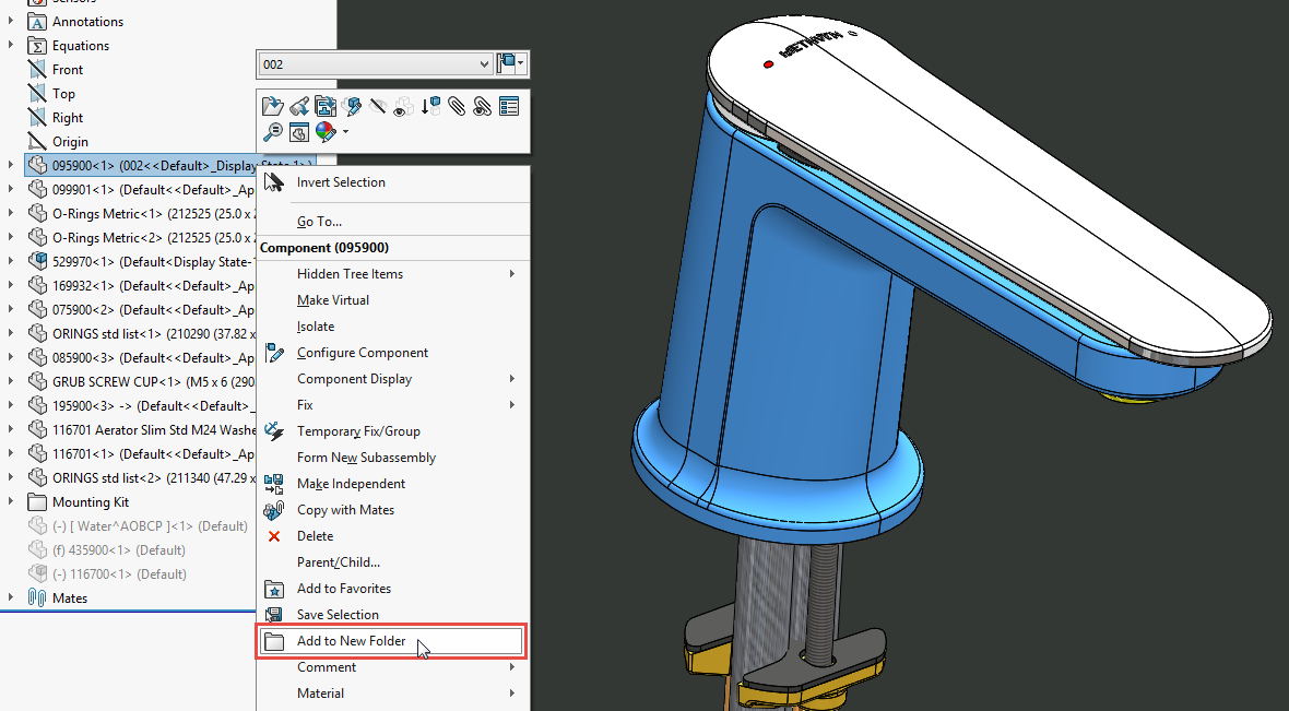 solidworks how to create piece 2016