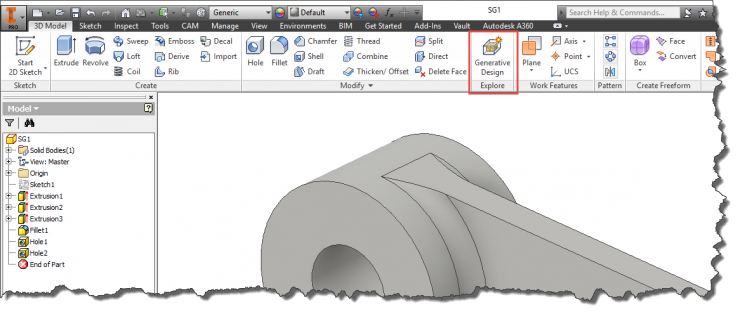 Inventor 2016 R2 - Shape Generation Ribbon Location