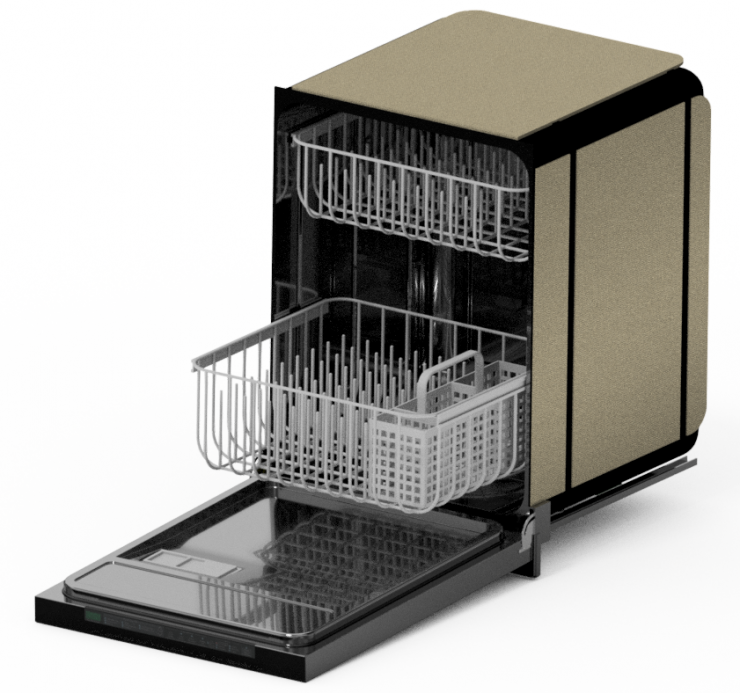 Dishwasher RayTrace 300-seconds