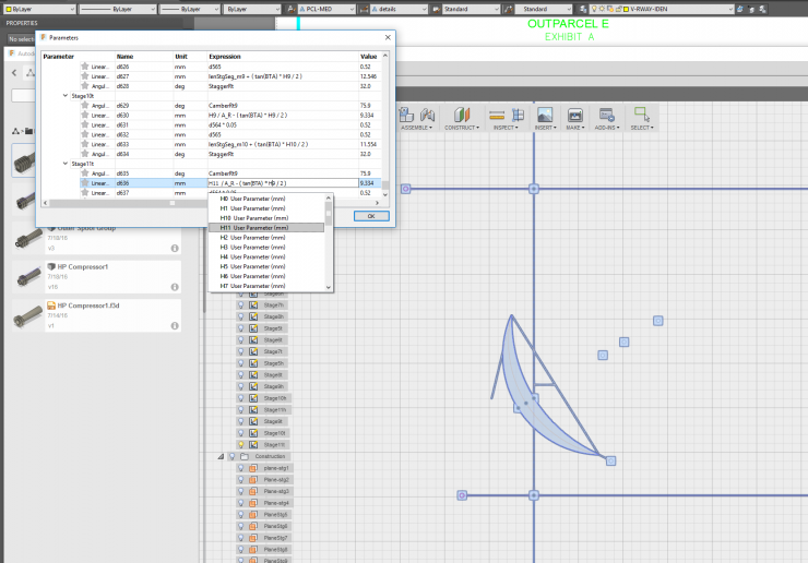 Parameter Lookup in Fusion 360