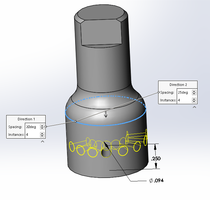 SOLIDWORKS 2017 Parts Circular Pattern