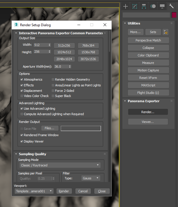 3DS Max Panorama Exporter