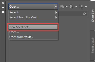 AutoCAD-Sheet Set Manager-New Sheet Set